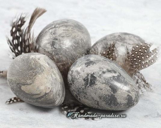 Пасхальные яйца из цемента и полимерной глины (9)