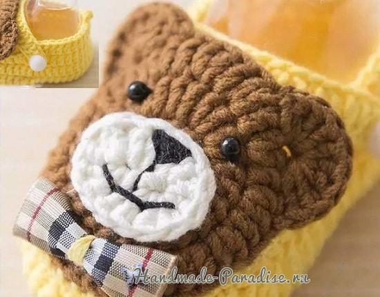Пинетки с медвежатами крючком. Схемы вязания (9)