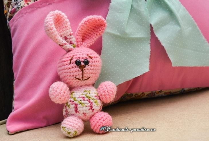Розовый кролик амигуруми. Схемы вязания (2)