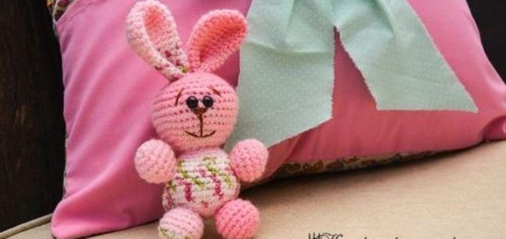 Розовый кролик амигуруми. Схемы вязания (3)