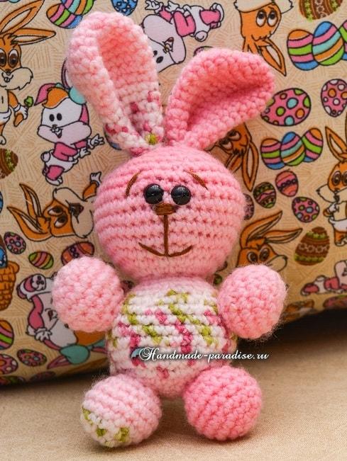 Розовый кролик амигуруми. Схемы вязания (4)