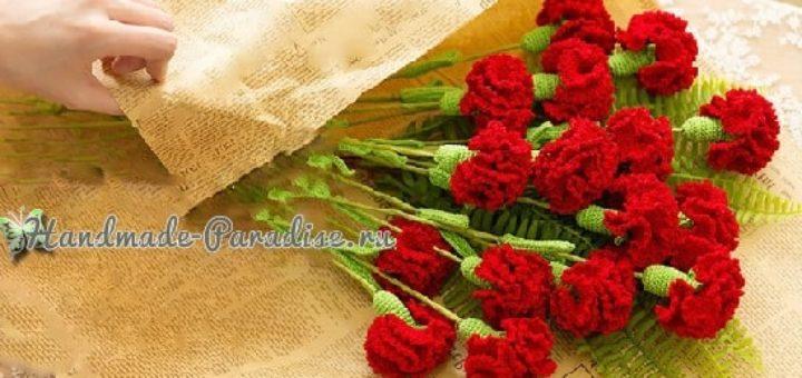 Цветы handmade. Вяжем крючком гвоздики (2)