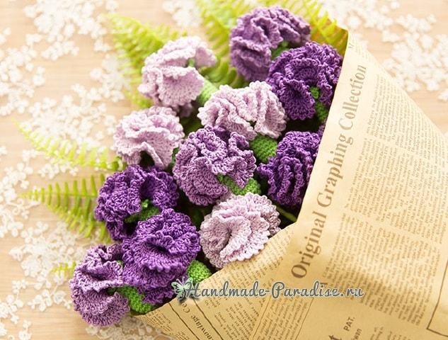 Цветы handmade. Вяжем крючком гвоздики (3)