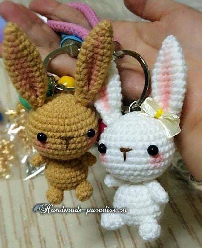 Вязание крючком кроликов амигуруми (2)