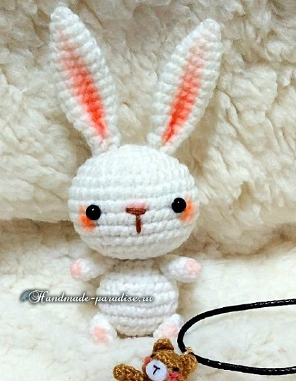 Вязание крючком кроликов амигуруми (3)