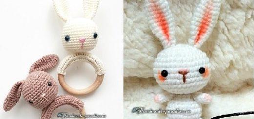 Вязание крючком кроликов амигуруми (6)