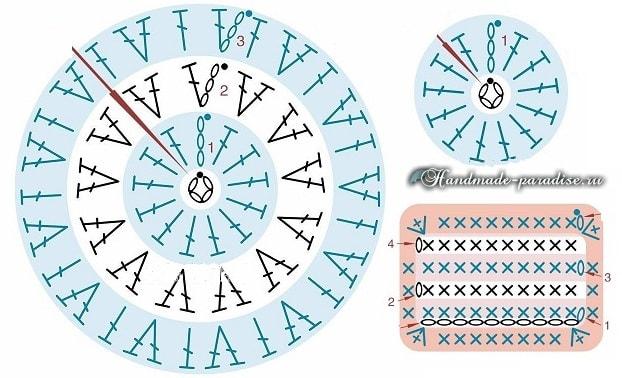 Вязаные пинетки с микки маусами. Схемы (3)