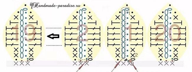 Вяжем крючком букет подсолнухов. Схемы вязания (5)