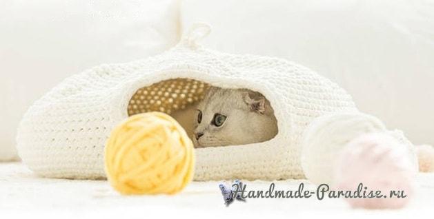 Домик для кошки крючком. Схемы вязания (1)