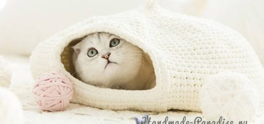 Домик для кошки крючком. Схемы вязания (2)