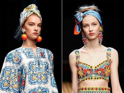 Как носить платок летом 2017 (2)