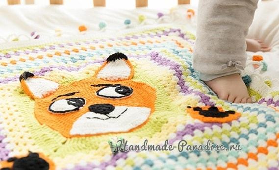 """儿童针织:""""狐狸"""" 毯子 - maomao - 我随心动"""