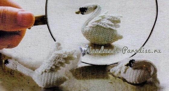 Лебеди амигуруми. Схемы вязания крючком (1)