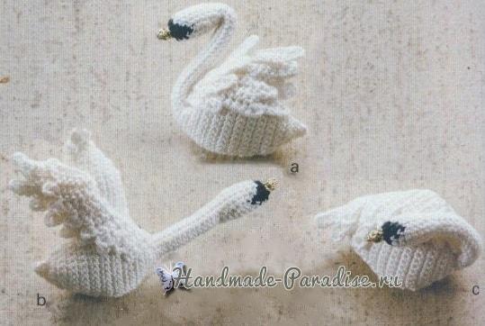 Лебеди амигуруми. Схемы вязания крючком (3)