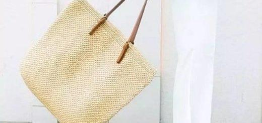 Летняя стильная сумка-мешок крючком (1)