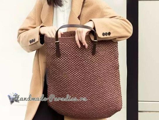Летняя стильная сумка-мешок крючком (4)