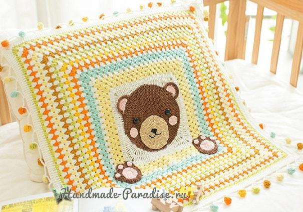 Плед с медвежонком для детской кроватки (3)