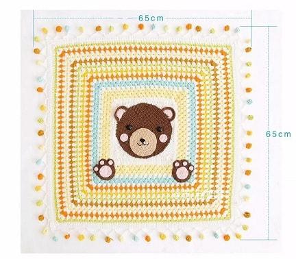 Плед с медвежонком для детской кроватки (5)