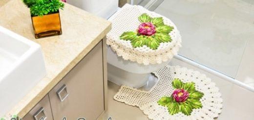 Цветочный комплект крючком для ванной комнаты (1)