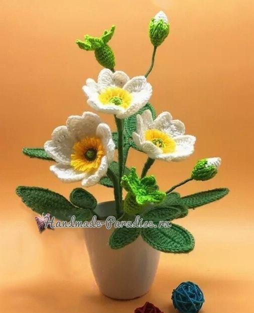 Цветы шиповника крючком. Схемы вязания (1)