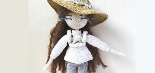 Вязаная крючком кукла Mariette. Описание (3)