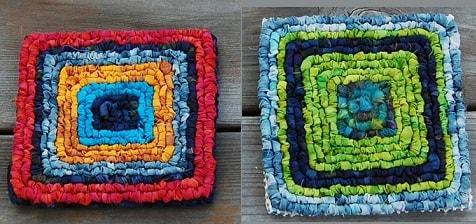 Вышивка лентами на пластиковой канве и кафельная плитка (1)