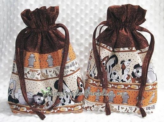 Как сшить мешочек на кулиске, с подкладкой (4)