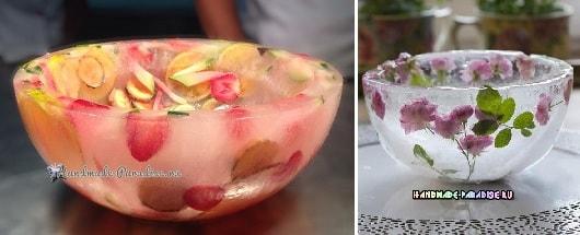 Ледяная ваза handmade для охлаждения шампанского (1)