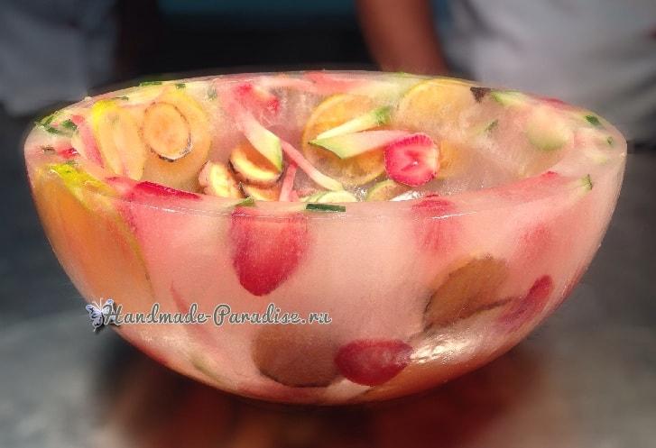 Ледяная ваза handmade для охлаждения шампанского (2)