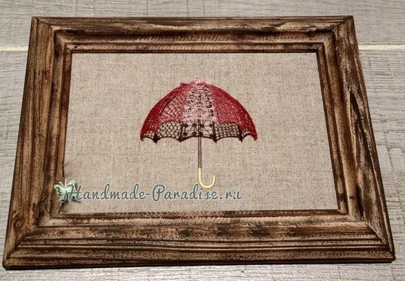 Объемная вышивка «Зонтик». Мастер-класс (3)