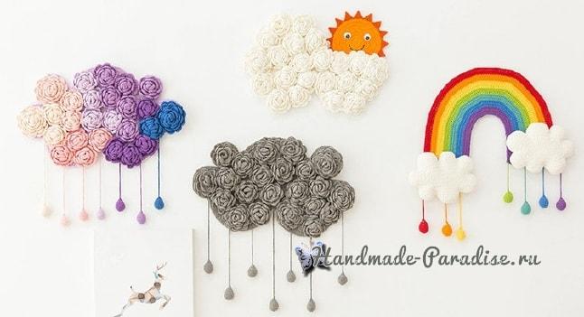 Облако с солнышком. Панно для детской комнаты (2)