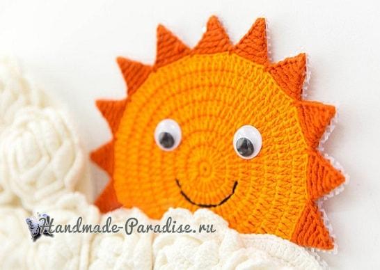 Облако с солнышком. Панно для детской комнаты (3)