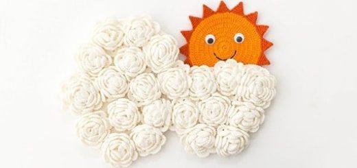 Облако с солнышком. Панно для детской комнаты (4)