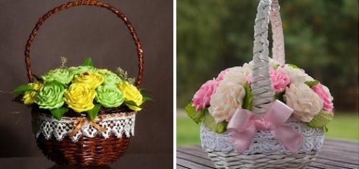 Плетение из газет корзины для цветов (3)
