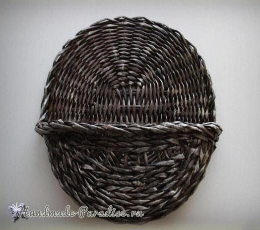Плетение настенного кашпо для цветов (3)