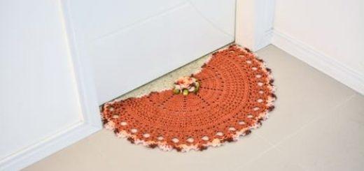 Придверный коврик крючком. Схема (2)