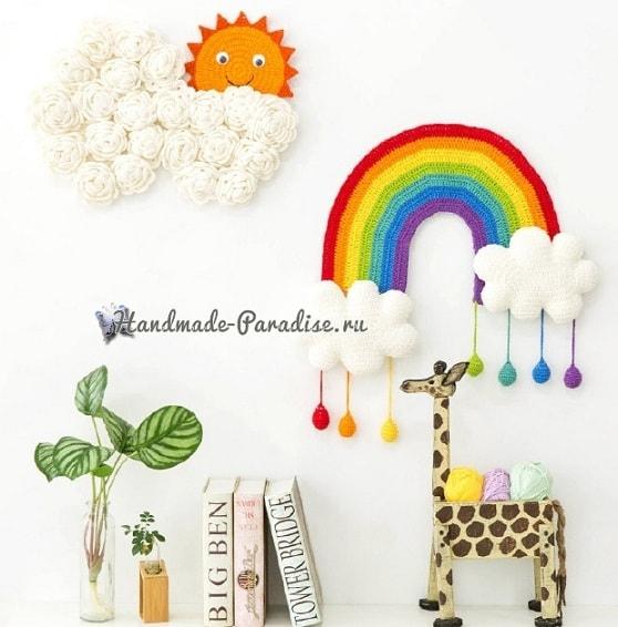 Радуга с облаками. Панно для детской комнаты (2)