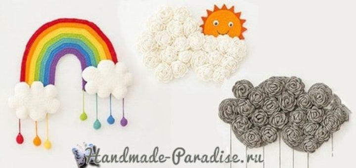 Радуга с облаками. Панно для детской комнаты (3)