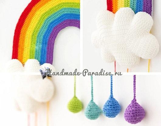 Радуга с облаками. Панно для детской комнаты (6)