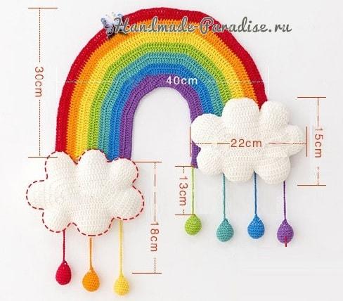 Радуга с облаками. Панно для детской комнаты (7)