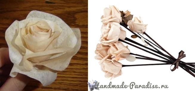 Розы из кофейных фильтров (1)