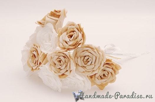 Розы из кофейных фильтров (10)