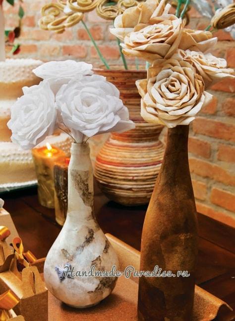 Розы из кофейных фильтров (11)