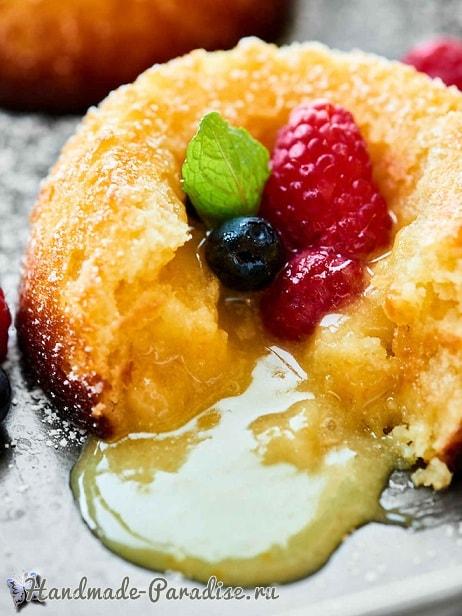 Шоколадное лимонное пирожное «Лава Cake» (3)