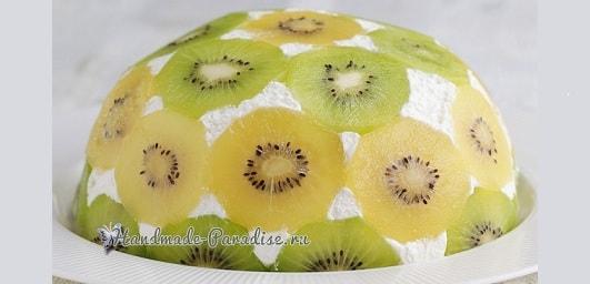 Фруктовый торт «Планета» без выпечки (2)