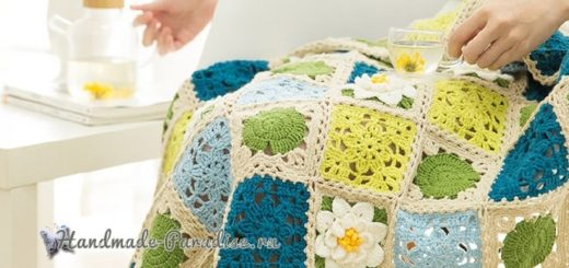 Вязание пледа с кувшинками. Схемы вязания (3)