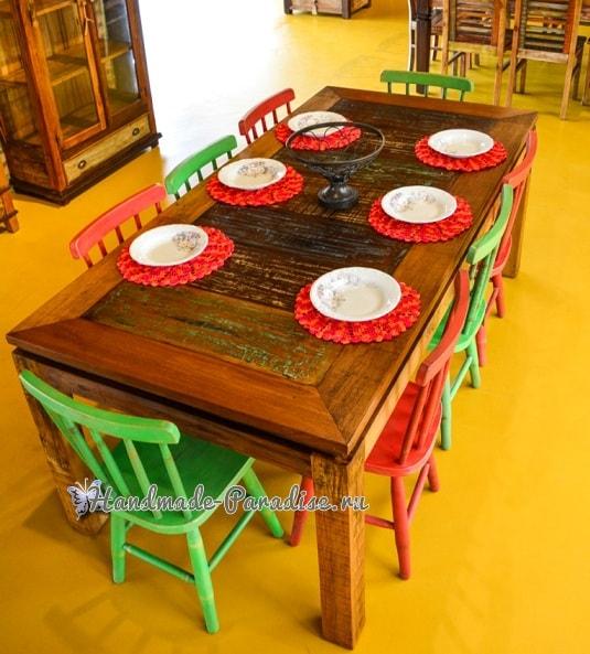 Вязаные салфетки для сервировки стола (1)