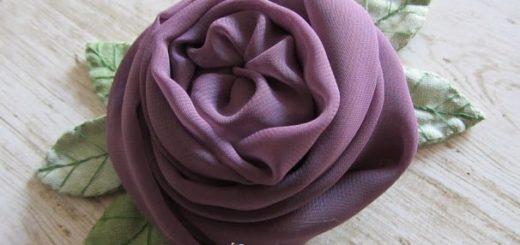 Английская роза из шифона (1)