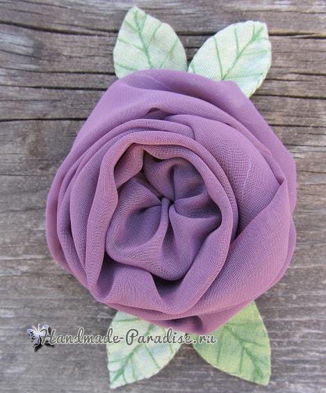 Английская роза из шифона (2)