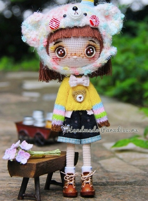 Ботиночки из кожи для куколки амигуруми (2)